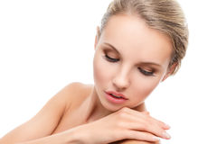 Young woman with perfect clean skin Royalty Free Stock Images