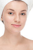Young woman with perfect health skin of face Royalty Free Stock Photo