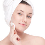 Young woman with perfect health skin of face Royalty Free Stock Photography