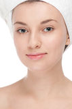 Young woman with perfect health skin of face Royalty Free Stock Photos