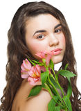 Young woman perfect healthy skin Royalty Free Stock Images