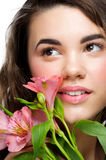 Young woman perfect healthy skin Royalty Free Stock Photography
