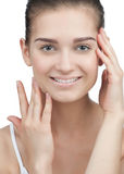 Young woman with perfect skin Stock Image