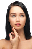 Young woman with perfect skin Stock Photos