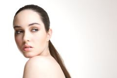 Young woman with perfect skin Royalty Free Stock Photo