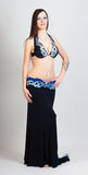 Young woman a performing belly dancing. full height Royalty Free Stock Photo