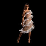 Young woman performing latino dance with passion Royalty Free Stock Photos