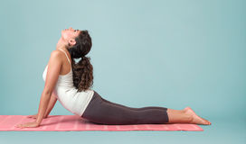 Young woman performing yoga asana Royalty Free Stock Photography