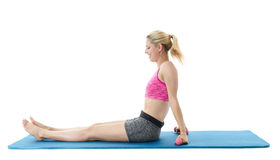 Young woman performing yoga Royalty Free Stock Photography