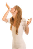 Young woman with perfume Royalty Free Stock Image