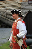Young woman in period dress, reenacting life of a soldier,Fort William Henry,New York,2016 Royalty Free Stock Photos