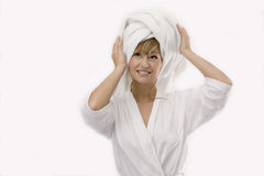 Young woman in personal care Royalty Free Stock Images