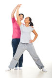 Young woman with personal trainer Stock Images