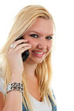 Young woman on the phone Stock Images