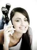 Young woman on phone Royalty Free Stock Image
