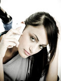 Young woman on phone Royalty Free Stock Photo