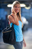 Young woman on the phone Royalty Free Stock Photos