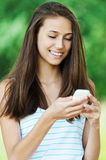 Young woman phone Stock Image
