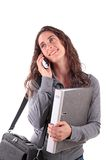 Young woman with phone Royalty Free Stock Photos