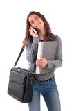 Young woman with phone Royalty Free Stock Images