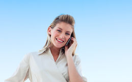 Young woman on the phone Stock Photos
