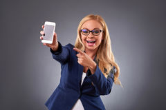 Young woman with a phone Royalty Free Stock Photos