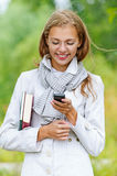Young woman phone Stock Photography