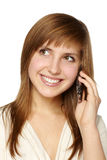Young woman phone call Royalty Free Stock Images