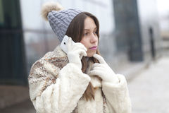 Young woman phoning Royalty Free Stock Photo