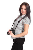 Young woman photographer Stock Photography