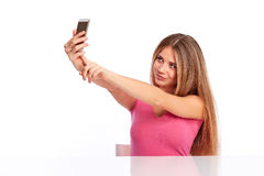 Young woman photographing Royalty Free Stock Photo