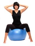 Young woman with pilates ball. Royalty Free Stock Photography