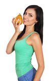 Young woman with pineapple Stock Photos