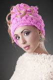 Young woman in pink Royalty Free Stock Photo