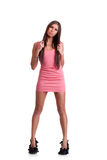 Young woman in pink dress Royalty Free Stock Photo