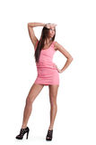 Young woman in pink dress Royalty Free Stock Images