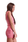 Young woman in pink dress Stock Photography