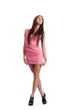Young woman in pink dress Royalty Free Stock Photography