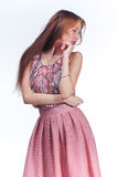 Young Woman In Pink Romantic Dress Royalty Free Stock Photography