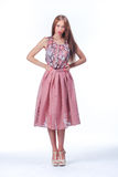 Young Woman In Pink Romantic Dress Royalty Free Stock Photo