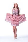 Young Woman In Pink Romantic Dress Royalty Free Stock Photos