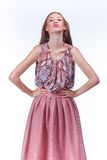 Young Woman In Pink Romantic Dress Royalty Free Stock Images