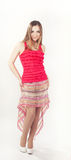 Young woman in pink trendy outfit Stock Photography