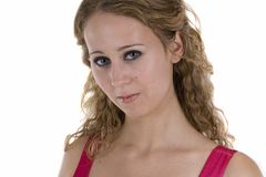 Young woman in pinkish dress Royalty Free Stock Photos