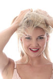 Young Woman Playing with Her Hair Stock Photos