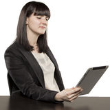 Young woman playing on Ipad Stock Photos