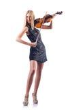 Young woman playing violin Stock Photo