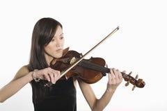 Young Woman Playing Violin Royalty Free Stock Image