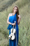 Young woman playing violin Royalty Free Stock Photo