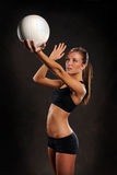 Young Woman Playing Volleyball Royalty Free Stock Image